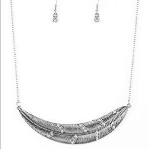 Paparazzi short silver necklace